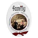 Family Christmas 2 side oval - Oval Ornament (Two Sides)