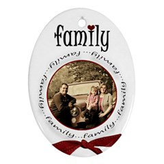Family Christmas 2 Side Oval By Amanda Bunn   Oval Ornament (two Sides)   A8oc5iar1vsh   Www Artscow Com Back
