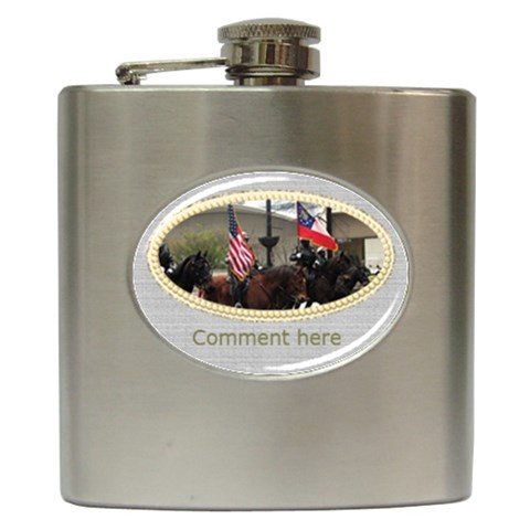 Special Day Hip Flask By Deborah   Hip Flask (6 Oz)   Tlbo1os5c9b4   Www Artscow Com Front