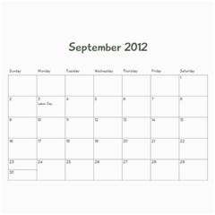Family Calendar By Jennifer   Wall Calendar 11  X 8 5  (12 Months)   Oedaduni61lg   Www Artscow Com Sep 2012
