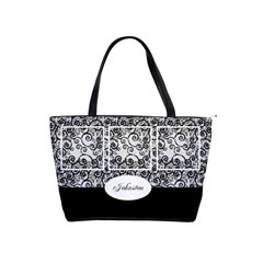 Black And White Shoulder Handbag By Deborah   Classic Shoulder Handbag   5srf9lu8slpo   Www Artscow Com Front
