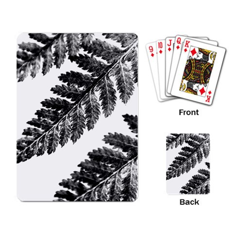 Playing Fern 1 By Charity   Playing Cards Single Design   R27j8riifazg   Www Artscow Com Back