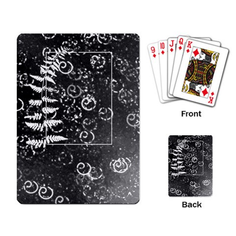 Playing Fern 2 By Charity   Playing Cards Single Design   9fstledeuiba   Www Artscow Com Back