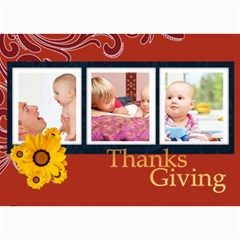 Thanks Giving By Joely   5  X 7  Photo Cards   Pegd7ow0fg4s   Www Artscow Com 7 x5 Photo Card - 1