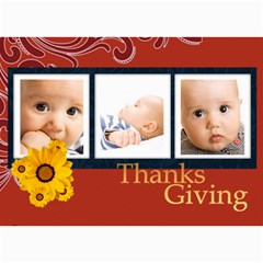 Thanks Giving By Joely   5  X 7  Photo Cards   Pegd7ow0fg4s   Www Artscow Com 7 x5 Photo Card - 2