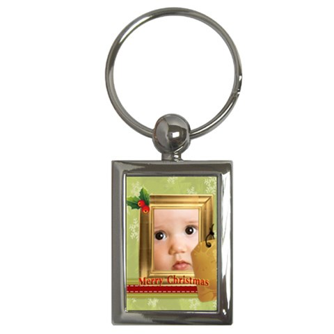 Christmas By Joely   Key Chain (rectangle)   3bbcfktp8fjn   Www Artscow Com Front