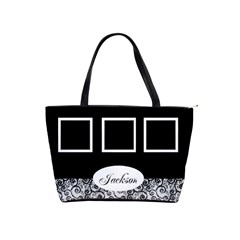 Black And White Shoulder Bag By Deborah   Classic Shoulder Handbag   51yogumedlk0   Www Artscow Com Front