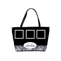 Black And White Shoulder Bag By Deborah   Classic Shoulder Handbag   51yogumedlk0   Www Artscow Com Back