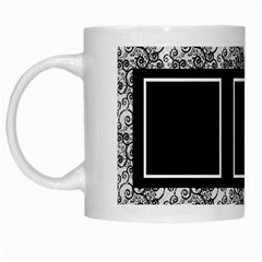 Black And White Mug By Deborah   White Mug   Cufjq5ysk9f8   Www Artscow Com Left