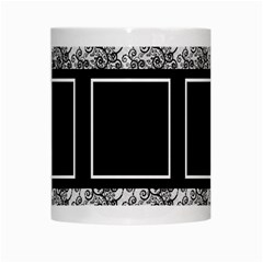 Black And White Mug By Deborah   White Mug   Cufjq5ysk9f8   Www Artscow Com Center