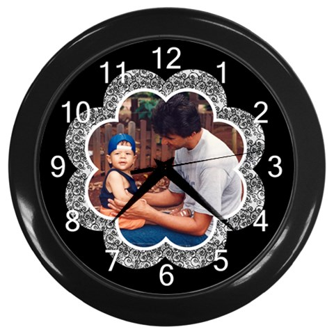 Happy Times By Deborah   Wall Clock (black)   Uw2eg76b3c0i   Www Artscow Com Front