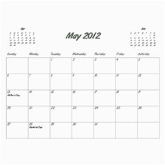 Koerner Calendar 2011 by Alecia May 2012