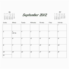 Koerner Calendar 2011 by Alecia Sep 2012