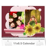 new year - Wall Calendar 11  x 8.5  (12-Months)