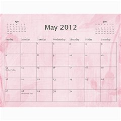 Wendy s 2012 Calendar By Wendy   Wall Calendar 11  X 8 5  (12 Months)   4m7ermpirbjw   Www Artscow Com May 2012