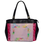 Pink Swirl - Oversize Office Handbag (One Side)