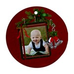 Christmas Bells Round Ornament - Ornament (Round)