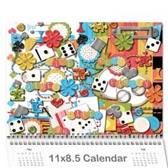 Family Calendar By Gay    Wall Calendar 11  X 8 5  (12 Months)   Gzpbi2gwkopm   Www Artscow Com Cover