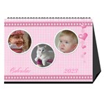 Happy Pink 2013 Desk Calendar - Desktop Calendar 8.5  x 6