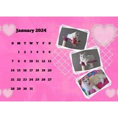 Happy Pink 2018 Desk Calendar By Deborah   Desktop Calendar 8 5  X 6    Kg4nta7adt1z   Www Artscow Com Jan 2018