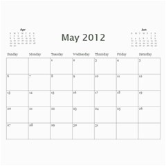 Calander 2012 By Vanessa   Wall Calendar 11  X 8 5  (12 Months)   Thhxcwb8ow92   Www Artscow Com May 2012