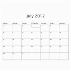 Calendar By Miriam   Wall Calendar 11  X 8 5  (12 Months)   X92x8mnrbwd5   Www Artscow Com Jul 2012