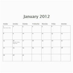 Calendar By Miriam   Wall Calendar 11  X 8 5  (12 Months)   X92x8mnrbwd5   Www Artscow Com Jan 2012