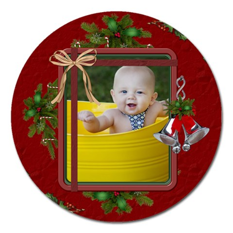 Christmas 5  Magnet By Lil    Magnet 5  (round)   8q4qlfiibpai   Www Artscow Com Front