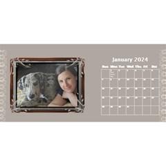 Cream Classic Desktop 2018 11 Inch Calendar By Deborah   Desktop Calendar 11  X 5    8fax56ieazww   Www Artscow Com Jan 2018