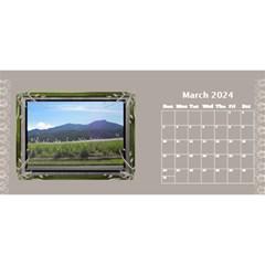 Cream Classic Desktop 2018 11 Inch Calendar By Deborah   Desktop Calendar 11  X 5    8fax56ieazww   Www Artscow Com Mar 2018