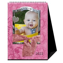 Sweet Baby Girl Desktop Calendar 6 x8 5  By Lil Cover
