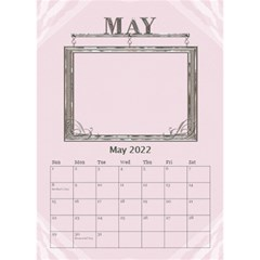 Sweet Baby Girl Desktop Calendar 6 x8 5  By Lil May 2019