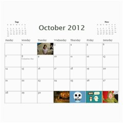 799 Calendar By Mandi Oct 2012