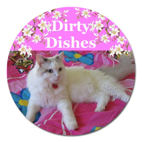 Heathers Dirty Dishes 2 By Deborah   Magnet 5  (round)   Lfottmv48c71   Www Artscow Com Front