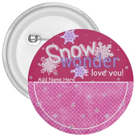 Let It Snow Snow Wonder Button By Bitsoscrap   3  Button   Av0b37954ko1   Www Artscow Com Front