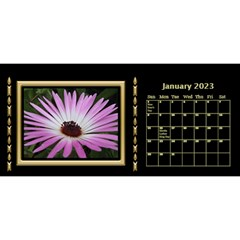 Black And Gold Desktop 11 Inch By Deborah   Desktop Calendar 11  X 5    0n87koxsg1v1   Www Artscow Com Jan 2017