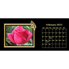 Black And Gold Desktop 11 Inch By Deborah   Desktop Calendar 11  X 5    0n87koxsg1v1   Www Artscow Com Feb 2017