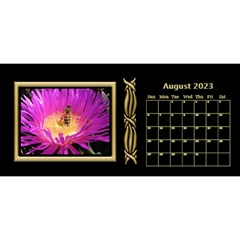 Black And Gold Desktop 11 Inch By Deborah   Desktop Calendar 11  X 5    0n87koxsg1v1   Www Artscow Com Aug 2017
