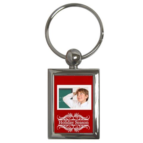 Christmas Holiday By May   Key Chain (rectangle)   Eiysqaezxxkx   Www Artscow Com Front