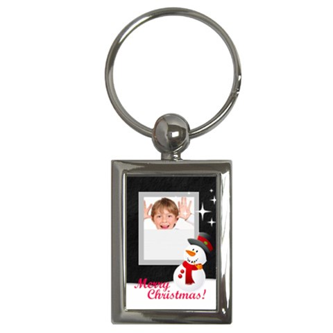 Christmas Holiday By May   Key Chain (rectangle)   Jkpruo3nmzbt   Www Artscow Com Front