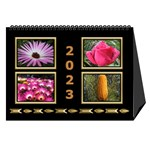 Black and Gold Desktop Calendar (8.5x6) - Desktop Calendar 8.5  x 6