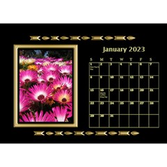 Black And Gold Desktop Calendar (8 5x6) By Deborah   Desktop Calendar 8 5  X 6    F5djq73kh5gh   Www Artscow Com Jan 2020