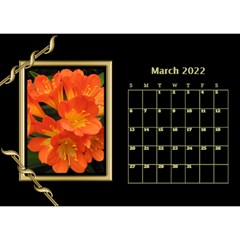 Black And Gold Desktop Calendar (8 5x6) By Deborah   Desktop Calendar 8 5  X 6    F5djq73kh5gh   Www Artscow Com Mar 2020