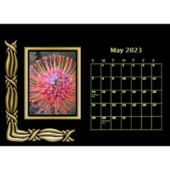 Black And Gold Desktop Calendar (8 5x6) By Deborah   Desktop Calendar 8 5  X 6    F5djq73kh5gh   Www Artscow Com May 2020