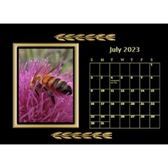Black And Gold Desktop Calendar (8 5x6) By Deborah   Desktop Calendar 8 5  X 6    F5djq73kh5gh   Www Artscow Com Jul 2020