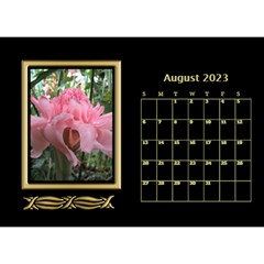 Black And Gold Desktop Calendar (8 5x6) By Deborah   Desktop Calendar 8 5  X 6    F5djq73kh5gh   Www Artscow Com Aug 2020