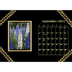 Black And Gold Desktop Calendar (8 5x6) By Deborah   Desktop Calendar 8 5  X 6    F5djq73kh5gh   Www Artscow Com Sep 2020