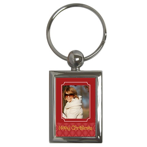 Christmas Holiday By May   Key Chain (rectangle)   Hks2dhbktyxd   Www Artscow Com Front