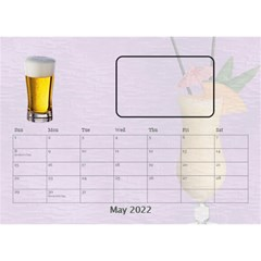 Happy Hour Desktop Calendar 8 5 x6  By Lil    Desktop Calendar 8 5  X 6    3s2ri91a28p7   Www Artscow Com May 2019