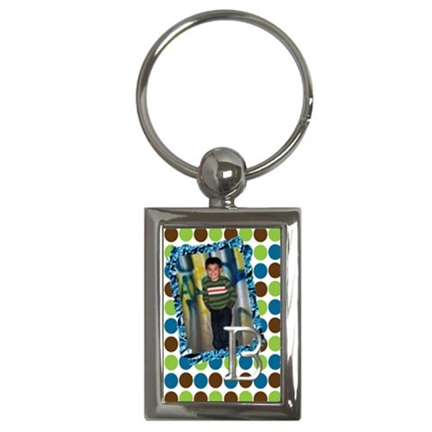 Keychain Boy By Angela Anos   Key Chain (rectangle)   Nxkuzxqfq35e   Www Artscow Com Front